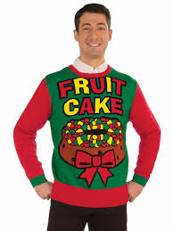 fruit cake christmas sweater costume ugly christmas sweaters