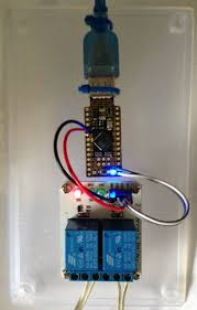 a simple arduino leostick relay control module