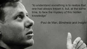 Paul De Man Blindness And Insight O U0027connor Pk