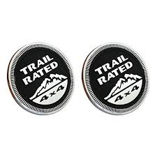 jeep black emblem amazon com car styling accessories 2pcs black b027 emblem badge