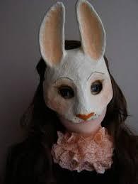 paper mache bunnies masquerade mask rabbit mask hare mask bunny mask animal mask paper