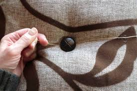 How To Sew A Button Onto A Cushion Or Pillow Best Fabric Store Blog