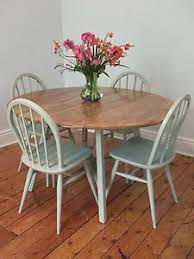 blue painted dining table use diy chalk paint to refinish an old oak table and chairs best