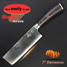 aliexpress com buy 7 inch vegetable knife damascus kitchen
