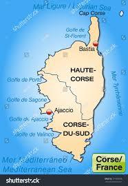 Corsica Map Map Corsica Borders Pastel Orange Stock Illustration 171920156