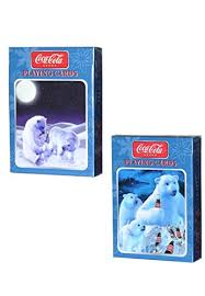 coca cola polar bears cards 2 deck set toys