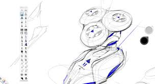 drawing a razor with a cintiq 22hd industrial design sketching