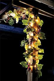 Outdoor Lighted Garland Lighted Grape Garland This Would Be Perfect For The Kitchen Or
