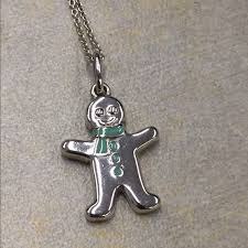 man charm necklace images Tiffany co jewelry tiffany co gingerbread man charm necklace jpg