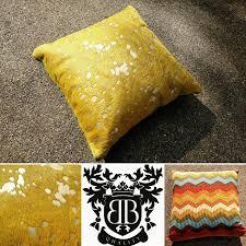 Metallic Cowhide Pillow Pillows U2014 Gambrell Renard