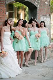 mint green wedding inspiration mint bridesmaid dresses peach