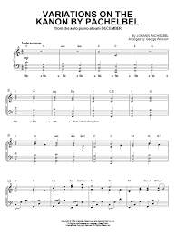variations on the kanon by pachelbel sheet direct