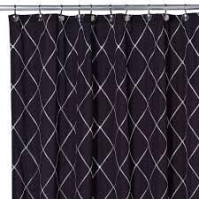 wellington shower curtain in black white 2c small bathroom
