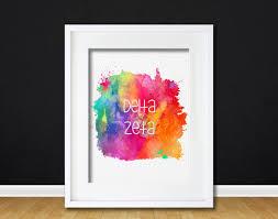 sorority picture frames watercolor delta zeta sorority gift modern 8x10 wall