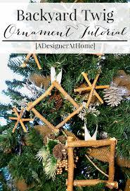 twig glitter ornaments a designer at home