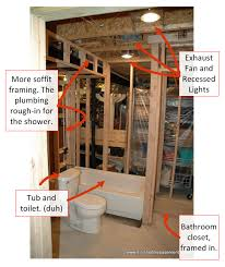 How Much Does It Cost To Refinish A Basement by Basic Basement Toilet Shower And Sink Plumbing Layout Bathroom