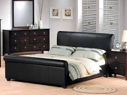 Leather Sleigh Bed Amazon Com Milano Cappucino Dark Brown Bycast Leather Queen Size