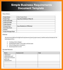 simple business requirements document template 100 images