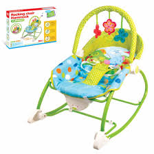 Toddler Rocking Recliner Chair Baby Bouncer Rocker Reclining Chair Soothing Music Vibration Toys