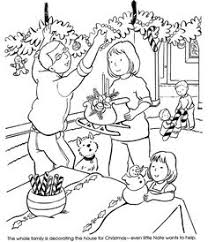 the night before christmas coloring page printout more fun
