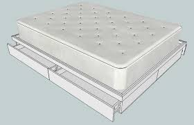Platform Bed Plans Queen by Queen Platform Bed With Storage The Home Depot Community