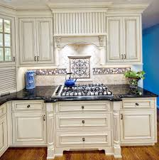 antique white cabinets with backsplash home design ideas