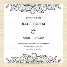 Golden Wedding Invitation Cards Save The Date Wedding Invitation Card Template With Flower Wreath