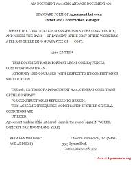 construction agreement form image image appendix l agc document