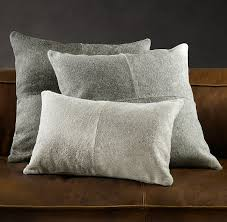 Metallic Cowhide Pillow American Cowhide Pillow Cover Grey