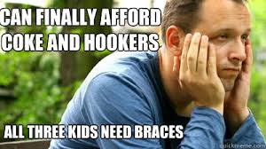 Kid With Braces Meme - running the gauntlet of three from the left field