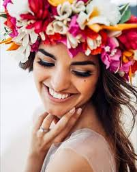 floral headpiece how to make a tropical hawaiian flower crown haku flower crown