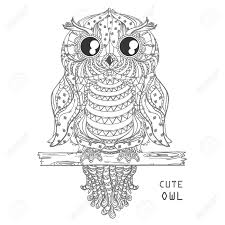 zen of design patterns owl design zentangle hand drawn owl with abstract patterns