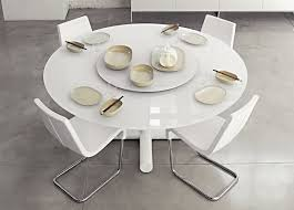 modern circular dining table expandable round dining table modern table design what size