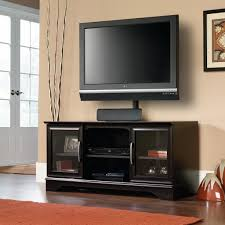 tv stands with flat panel mounts sauder panel tv stand w post mount home furniture game room