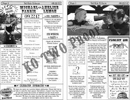 newspaper wedding programs the day of the rest of my with you 2012
