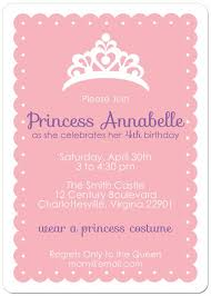 birthday announcements princess party invitations on princess theme birthday invitations