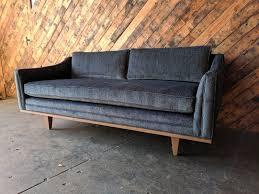 mid century style sofa mid century style custom love seat sofa the hunt vintage