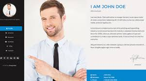 Resume Website Examples by 50 Best Html Resume Cv Vcard Templates 2017 Freshdesignweb