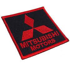 logo mitsubishi mitsubishi embroidered patch embroidery emblem logo mark black
