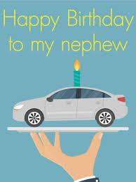 happy birthday car cake card for nephew birthday u0026 greeting