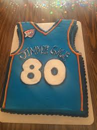 sweet and sassy okc thunder jersey cake yelp
