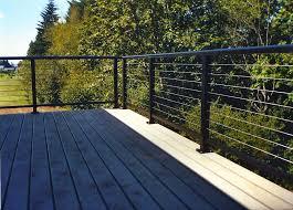 black steel deck railing doherty house stainless steel deck