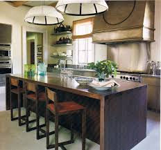 Wood Island Kitchen by Kitchen Room Design Calming Tuscan Kitchen Living Room With