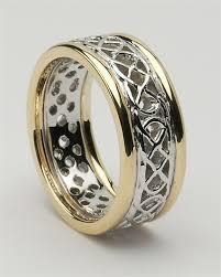 celtic wedding celtic pierced knot wedding rings lg wed177