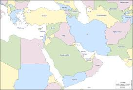 Blank Time Zone Map by South West Asia Free Map Free Blank Map Free Outline Map Free