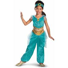 Princess Halloween Costumes Kids Disney Jasmine Deluxe Sparkle U0027s Child Halloween Costume