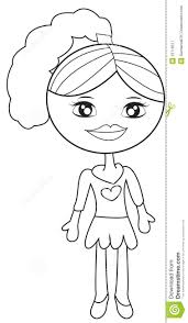 little in a dress coloring page stock illustration image