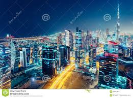 Modern City by Aerial View Of A Big Modern City At Night Nighttime Skyline Of