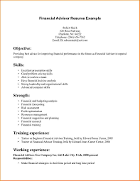 Resume Sample Finance by Resume Financial Advisor Resume Sample