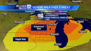 Chicago Weather Map by Severe Weather Risk Today